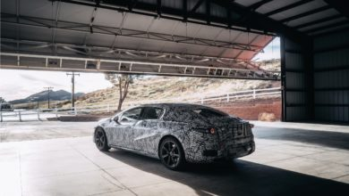 Photo of Mercedes 'EQS' electric sedan spied testing on streets