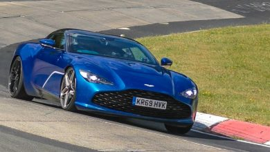 Photo of The ever-so gorgeous Aston Martin DBS GT Zagato spied tearing on the Nurburgring
