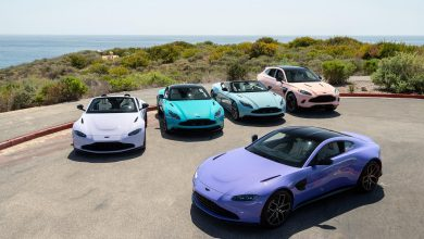 Photo of Aston Martin Newport beach shows off exclusive pastel color palette for 5 vehicles